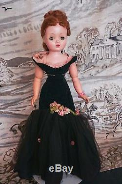 Vintage Madame Alexander Cissy Doll 1956 The Black Mermaid Outfit orig. Flowers