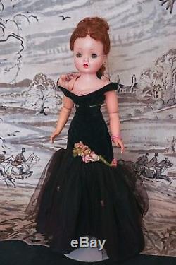 Vintage Madame Alexander Cissy Doll 1956 The Black Mermaid Outfit orig. Flowers