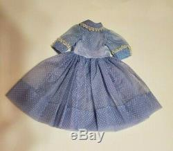 Vintage Madame Alexander Cissy Doll Blue Dotted Swiss Dress Tagged