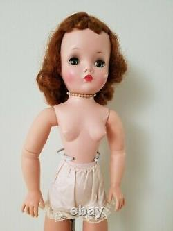 Vintage Madame Alexander Cissy Doll Nude Antique 20 Tall Red head 1950s