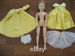 Vintage Madame Alexander Cissy Doll & Tagged Satin Opera Dress Nice