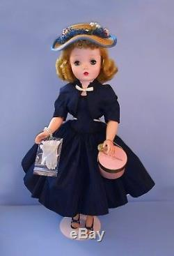 Vintage Madame Alexander Cissy Doll in Navy With Bolero from 1955 Nearly Mint