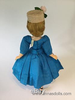 Vintage Madame Alexander Cissy Doll in Sapphire Blue Taffeta Cocktail Dress