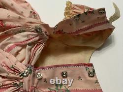 Vintage Madame Alexander Cissy doll VHTF #2082 Pink Ribbons & Roses Dress & Slip