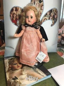 Vintage Madame Alexander Composition Princess Elizabeth Orig Rare peach Gown