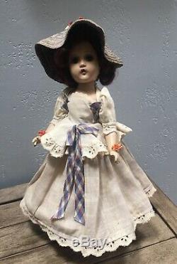 Vintage Madame Alexander Composition Wendy Ann Doll 14in Scarlett Southern Belle