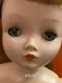 Vintage Madame Alexander Doll Cissy BRUNETTE Pretty Needing TLC In Chemise