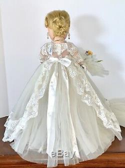 Vintage Madame Alexander Elise Doll In 1962 Regal Bride #1750