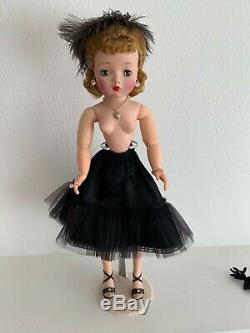 Vintage Madame Alexander HP Cissy Doll in White & Black Polka Dot Dress withAccess