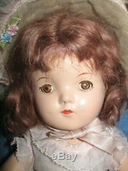 Vintage Madame Alexander Little Colonel Betty Doll All Original Composition 13in