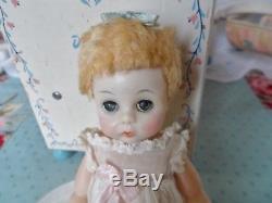 Vintage Madame Alexander Little Genius Doll With Furniture