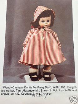 Vintage Madame Alexander Wendy Changes Outfits for Rainy Day #439 SLW