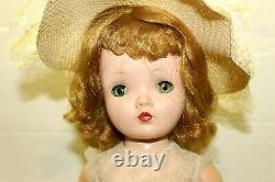 Vintage Madame Alexander Winnie Walker Bride Doll Tagged Red Hair Sleepy Eye