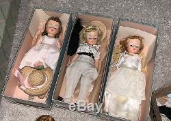 Vintage Madame Alexander-kins Doll Lot Elise Cissette Ginny Betsy Mccall Bride +