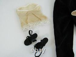 Vtg Alexander CISSY Doll Outfit Black Velvet TOREADOR Pants LACE Blouse Shoes
