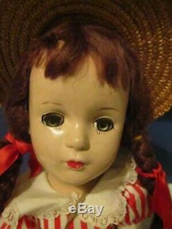 Vtg Madame Alexander MARGARET O'BRIEN 1940s composition doll 21